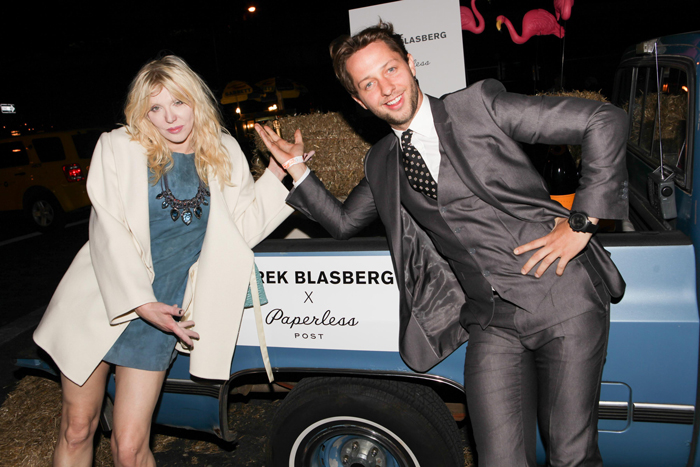 Derek Blasberg for Paperless Post. Courtney Love and Derek Blasberg.