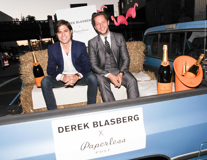 Derek Blasberg for Paperless Post. James Hirschfeld and Derek Blasberg.